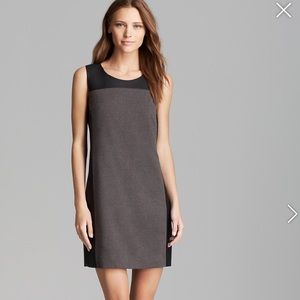 "Olive and Oak grey and ""leather"" Shift dress"